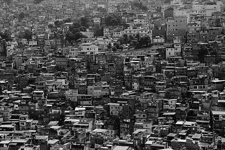 en blanco y negro, edificios, ciudad, paisaje urbano, Centro de la ciudad, casas, urbana
