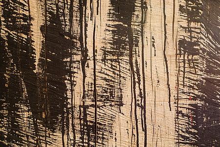textuur, hout, graan, bruin, houten planken, achtergrond, structuur