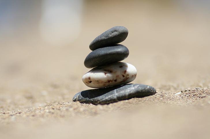 đá, Cát, Bãi biển, Thiên nhiên, bờ biển, đá, cân bằng