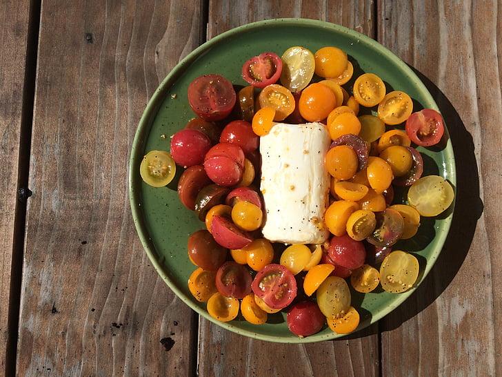 jídlo, rajče, zdravé jídlo