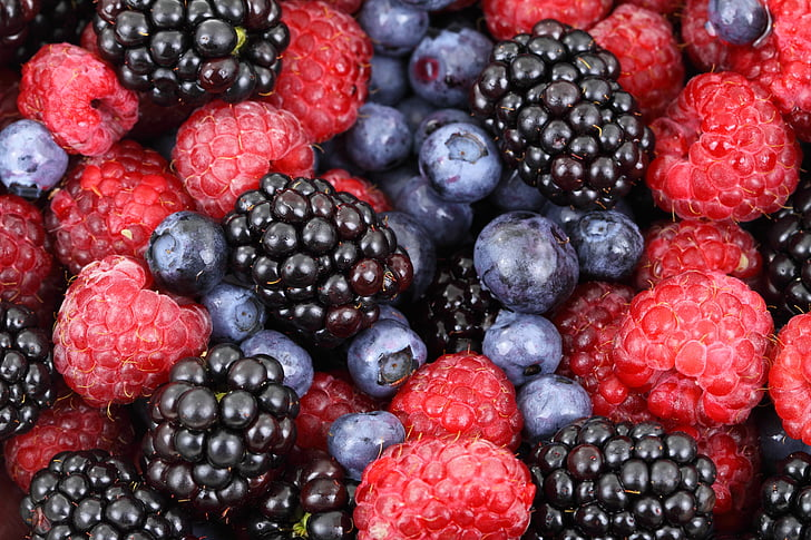 Fondo, bayas, Berry, moras, BlackBerry, arándanos, Blueberry