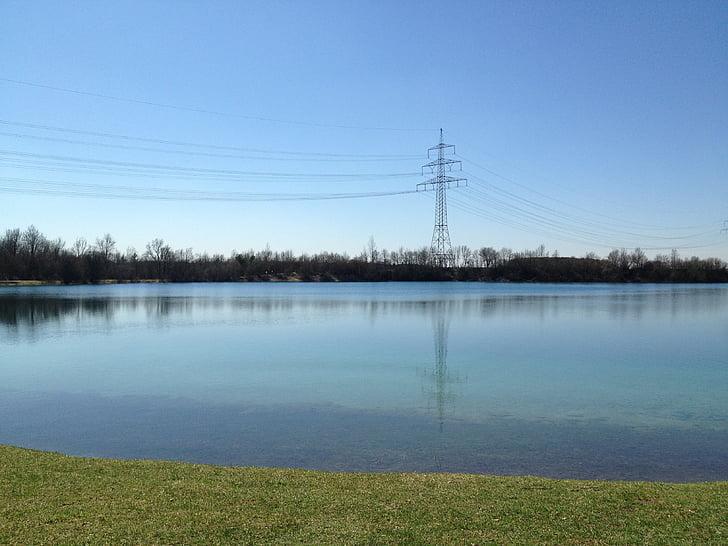 자연, 전기, 환경, 호수, 조용 하 고, 풍경, 구름