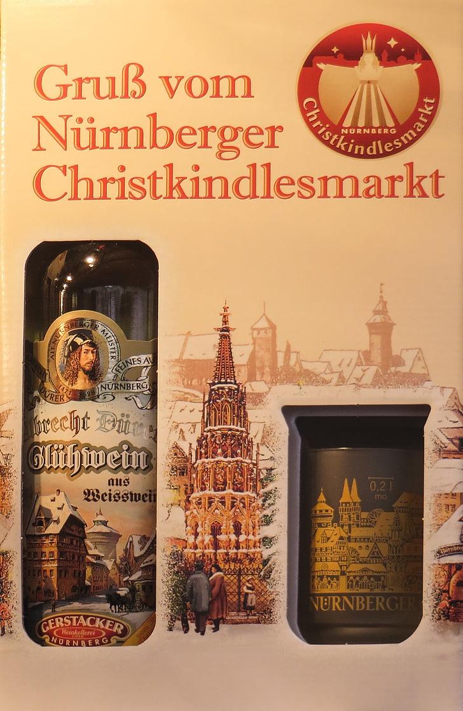 Božični sejem, Nürnberg, kuhano vino, steklenica
