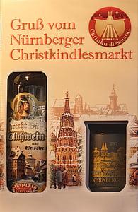 Noel pazarı, Nürnberg, mulled şarap, şişe