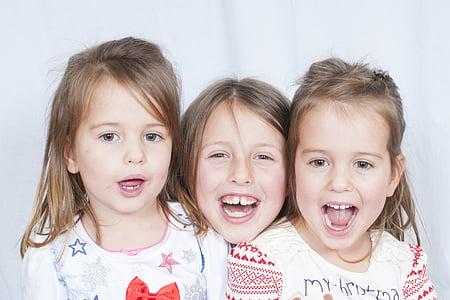 дете, Портрет, Щастлив, забавно, хлапе, малко, семейство