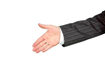 stânga, umane, mână, afaceri, Studio, shot, mâna omului