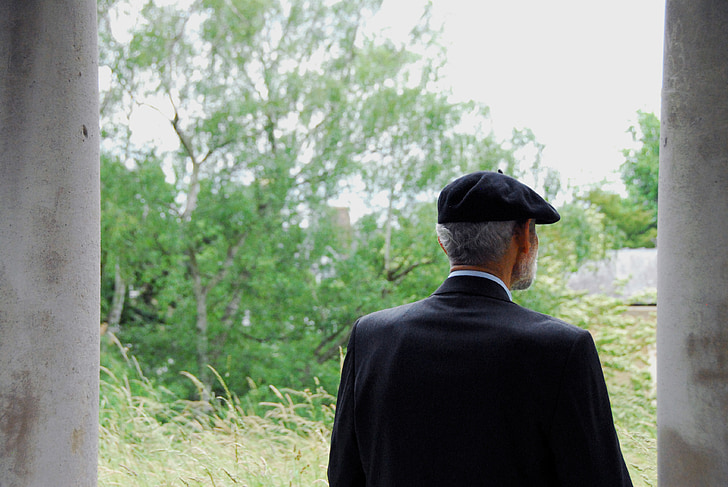 old man, man, alone