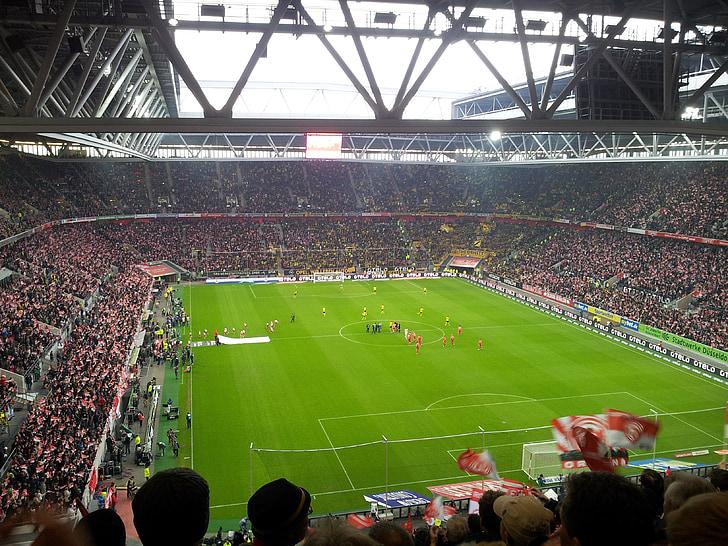 Estadi de futbol, espectadors, Estadi, fortuna, Düsseldorf, àmbit, futbol