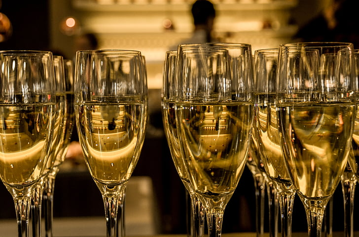 มาร์ตินี่, แก้ว, จำนวนมาก, ในแชมเพน, ไวน์, แว่นตา, ปีใหม่