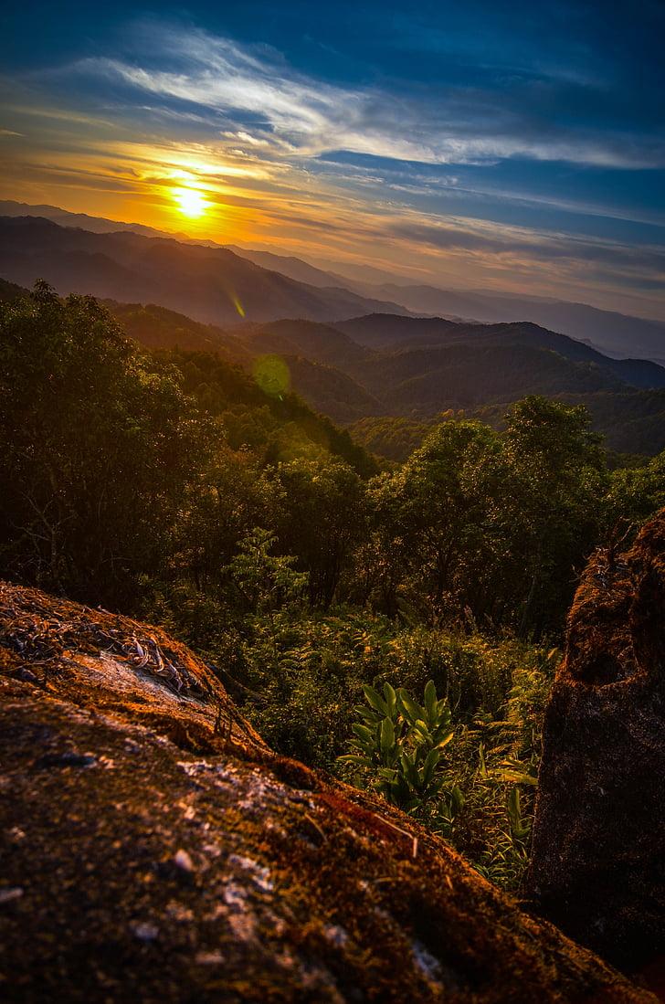 skymning, solnedgång, resor, Sky, landskap, naturen, Twilight