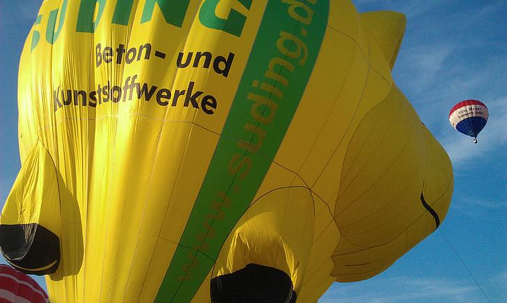 bublina, barevné, udit, začátek, zahájení fáze, Odjeď, Horkovzdušný balón