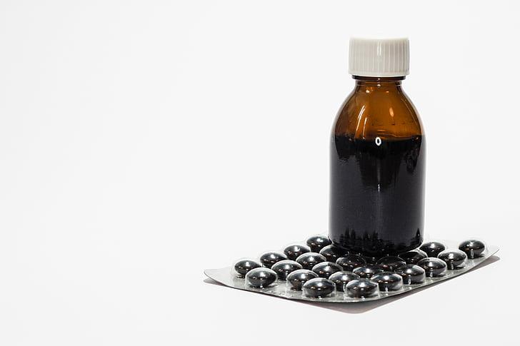 medicaments, cura, el xarop, Farmàcia, mèdica, la malaltia, emmalaltir