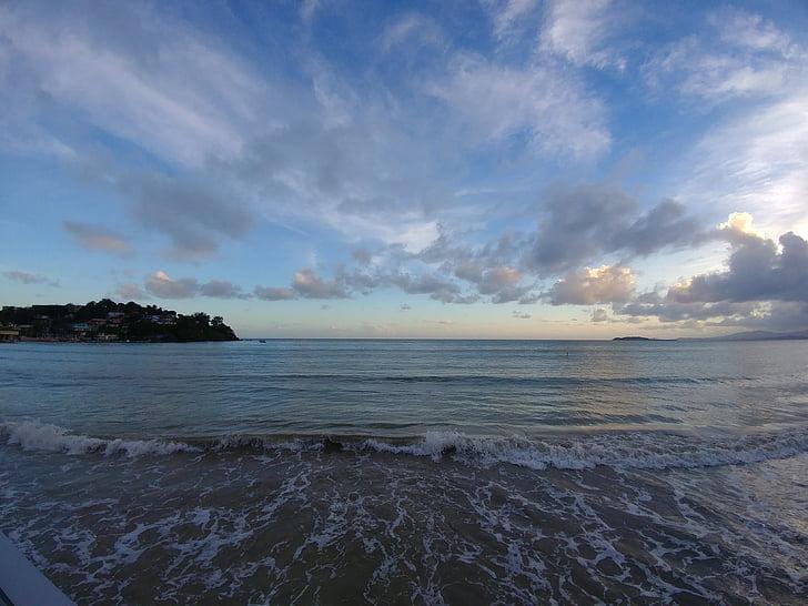strand, Caraïben, zee, Caribisch strand, hemel
