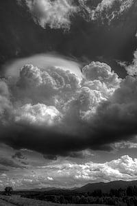 HDR, imatge HDR, núvols, cel, núvols pesades