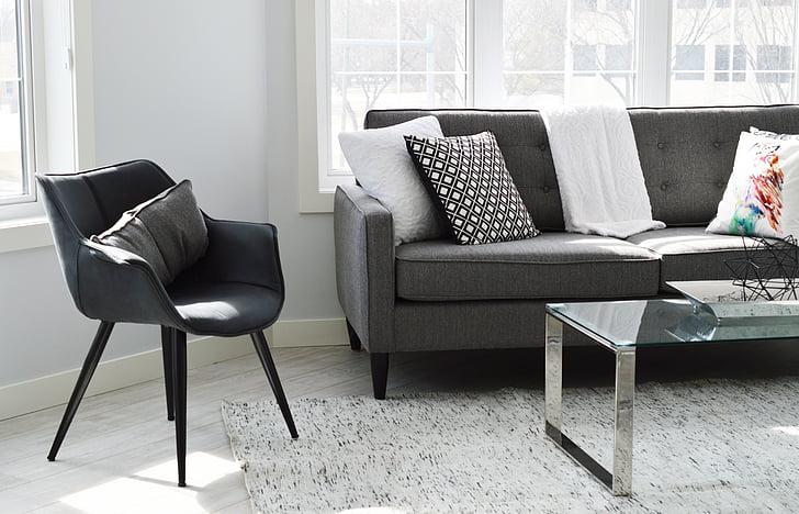 dzīvojamā istaba, krēsls, dīvāns, dīvāns, mājas, māja, Condo