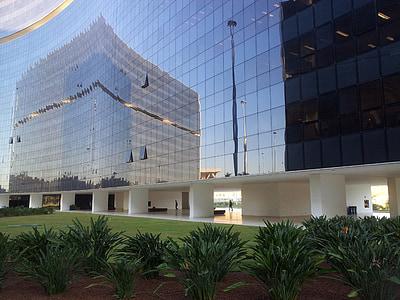 edifici, Windows, vidre, reflexió, urbà, ciutat, exterior