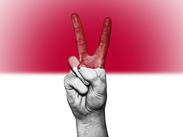 indonesia, peace, hand, nation, background, banner, colors