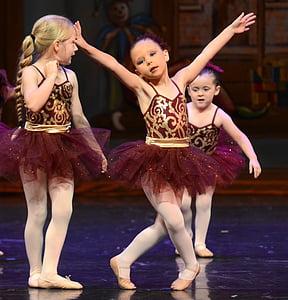 ballet, children, dance, tutu, performance, on stage, dancers