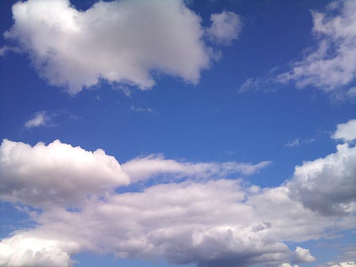 pilvi, taivas, sininen, pilvinen taivas