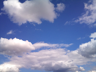 Debesis, dangus, mėlyna, debesuotą dieną