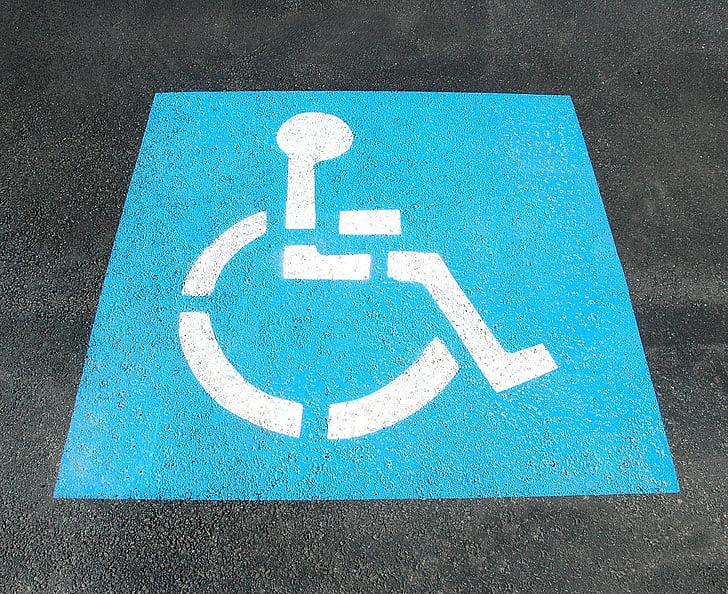 στάθμευσης αναπηρίας, Είσοδος, Χειροποίητη, Οδός, Απενεργοποίηση, χώρος στάθμευσης, σύμβολο