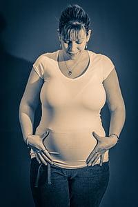 pere, rase, naine, Baby, raseduse, imiku, ema
