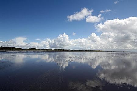 Северное море, Северная Фризия, Краеведческий музей Амрума, пляж, мне?, Природа, широкий