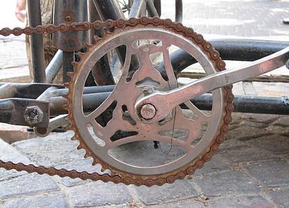 bicikala, zapušten, metala, Stari, bicikl, Lanac, kolo