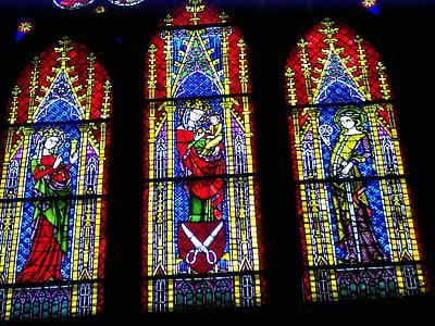 彩色玻璃窗口, 教会的窗口, 大教堂, 教会, 颜色, 宗教, 基督教