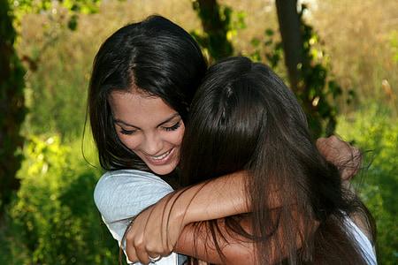 dekleta, prijateljstvo, ljubezen, lepota, nasmeh, ženske, na prostem