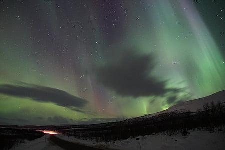 đèn phía bắc, năng lượng mặt trời gió, hiện tượng ánh sáng, màu xanh lá cây, ánh sáng, điện tử, Aurora