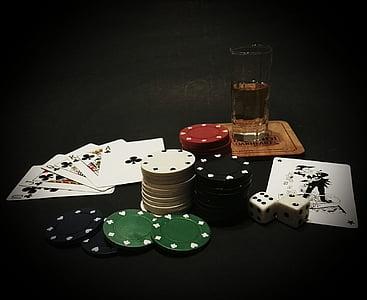 póker, kártyák, kártyajáték, kaszinó, szerencsejáték, ász, PIK