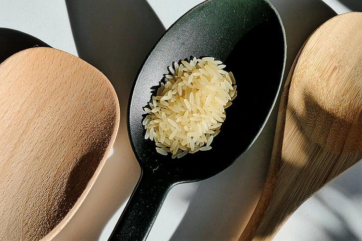 arroz, cuchara de, arroz de cuchara, comer, alimentos, plato de arroz, se benefician de