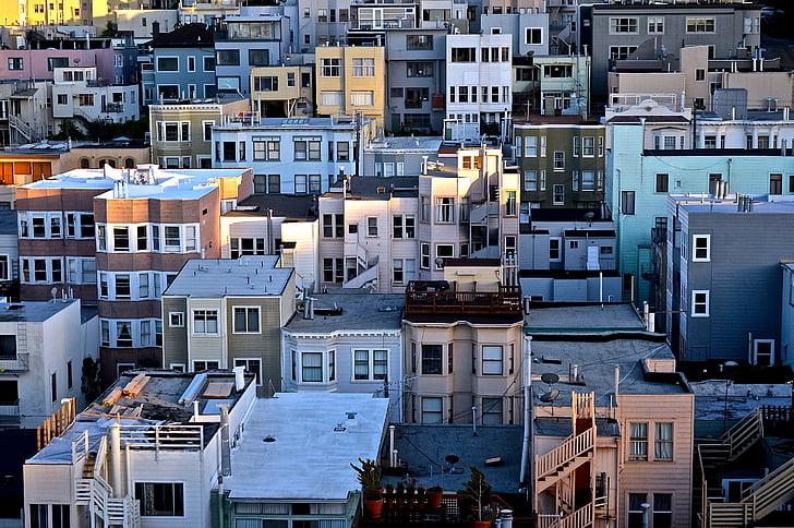 apartments, buildings, city, homes, houses, urban, public domain images