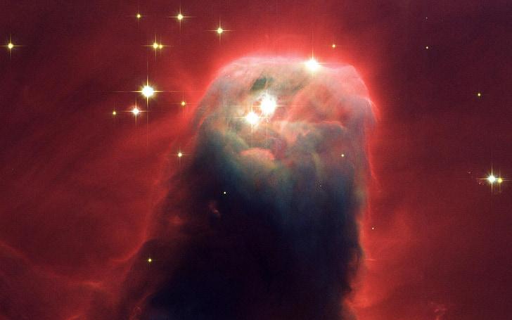 Nebulosa del con, nebulosa fosca, unicorn constel·lació, regió de formació estel·lar, NGC 2264, cel estrellat, espai