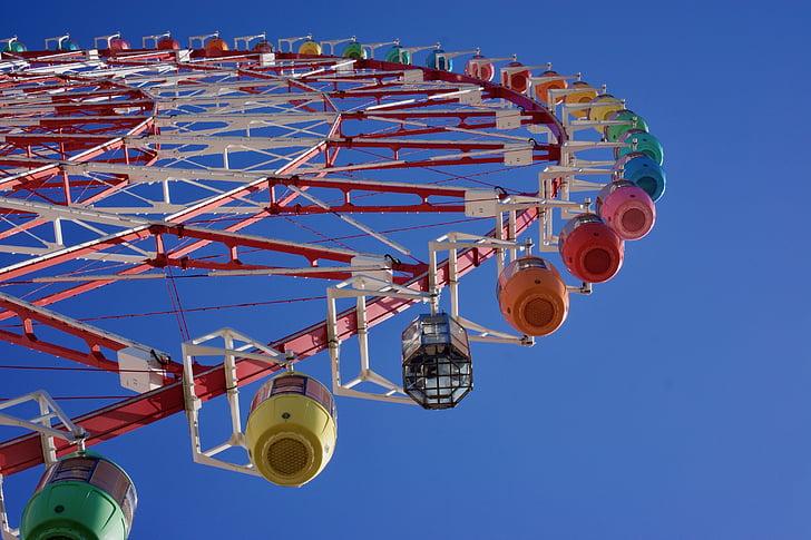 festival, tokyo, wheel, ferris, carnival, fair, entertainment