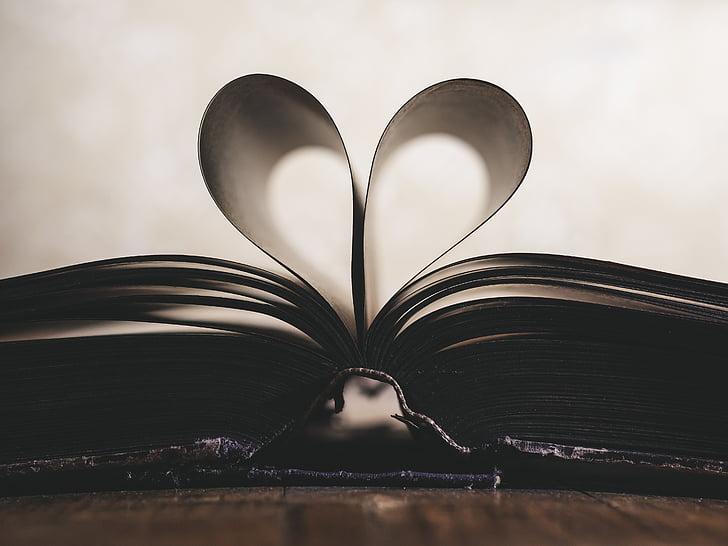 giấy, lãng mạn, biểu tượng, Ngày Valentine, Yêu, cuốn sách, Ngày