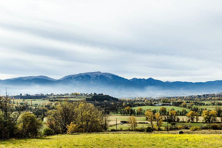 manhã, bela paisagem, beleza natural, Vale, montanhas, Verão, natureza paisagem