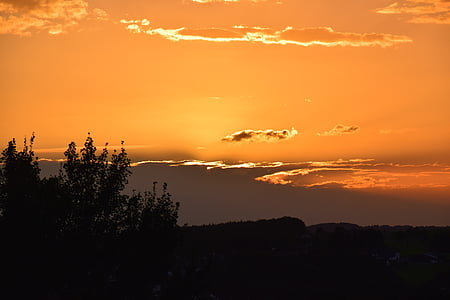 solnedgång, moln, kvällshimmel, Sky, Afterglow, abendstimmung, kvällen