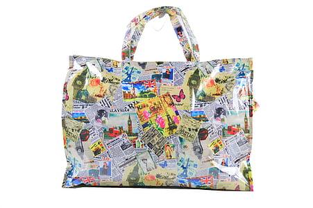 bag, bag laminated, bag colorful, currency