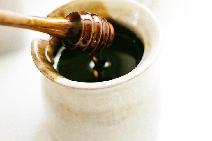 Balancí de mel, mel, eina, mel d'abella, Balancí, fusta, olla