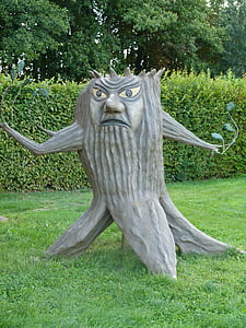 figure, tree, carving