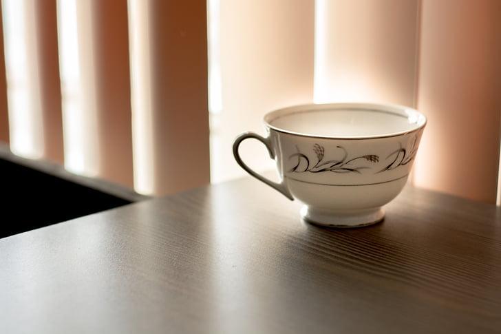 gėrimas, kavos, puodelis, arbata