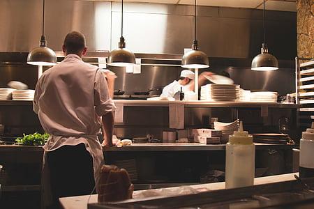 fotos, xef, cuina, interior, cuina, Restaurant, xefs