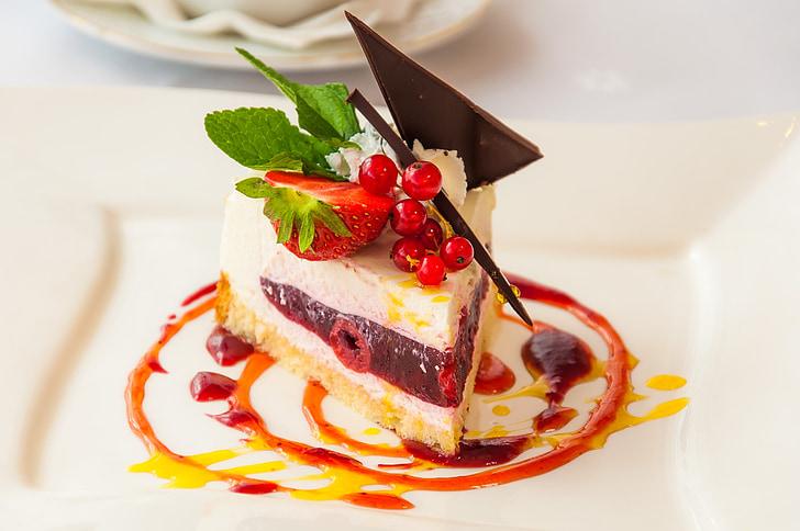 le gâteau, dessert, manger, Bun, coloré, plat sucré, goût