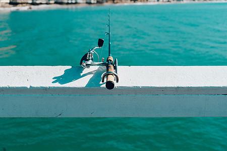 fishing, rod, pivot, recreation, activity, water, summer