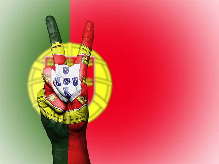portugal, peace, hand, nation, background, banner, colors