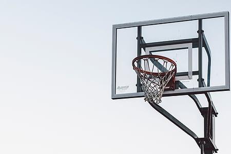 bàsquet, pilota, Spalding, cort, esports, exercici, afició