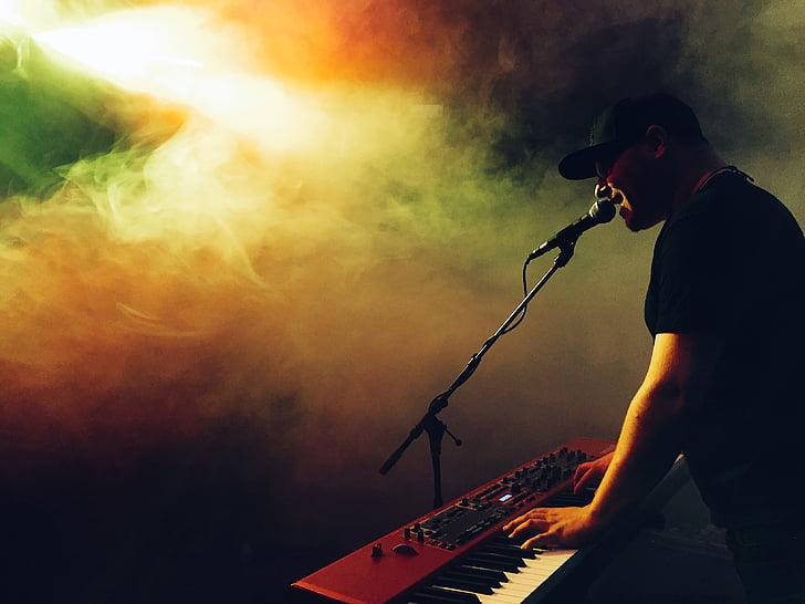 concert, electronic keyboard, guy, keyboard, live music, live performance, man