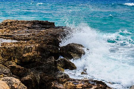 κύμα, Ακτή, στη θάλασσα, ροκ, φύση, Ακτή, βουτιά